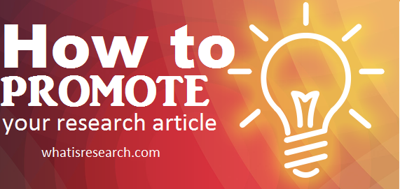 How to promote your research article