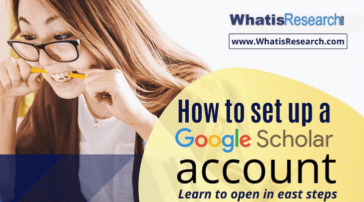 How to set up a Google Scholar account