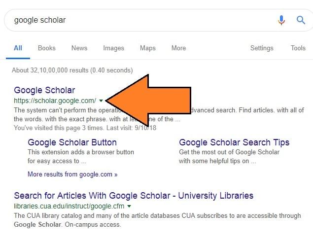 how to setup a Google scholar account