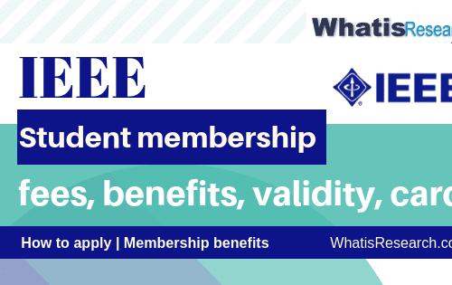 IEEE student membership