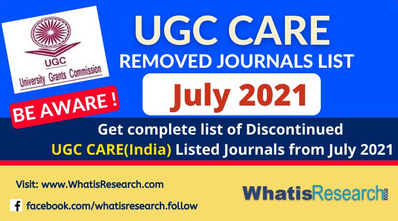 UGC removed journals list 2021 July
